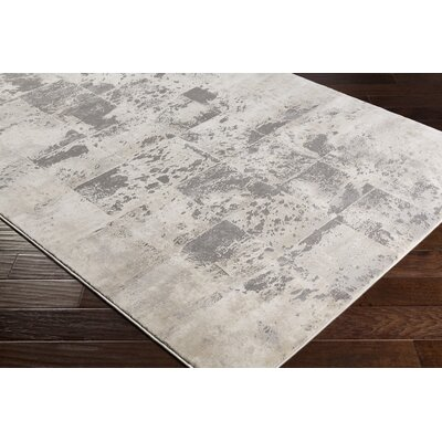 Longshore Medium Gray/Cream Area Rug Rug Size: Rectangle 27 x 76