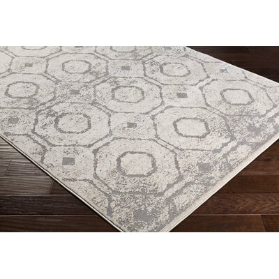 Nakamura Geometric Cream/Taupe Area Rug Rug Size: Rectangle 2 x 3