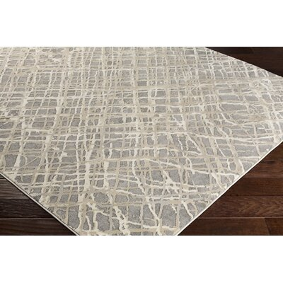 Brooks Charcoal/Taupe Area Rug Rug Size: Rectangle 53 x 76