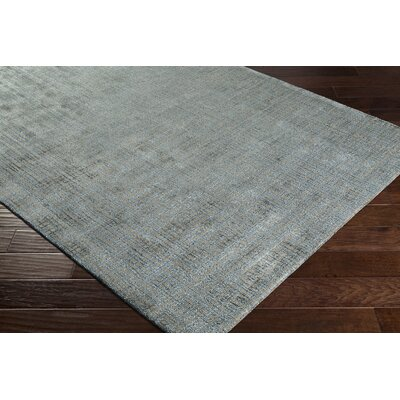 Dili Hand-Woven Silk Teal/Brown Area Rug Rug Size: Rectangle 8 x 10