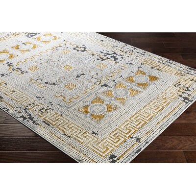 Nakasi Mustard/Beige Area Rug Rug Size: Rectangle 93 x 123