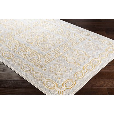 Nakasi Distressed Mustard/Camel Area Rug Rug Size: Rectangle 53 x 73