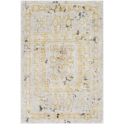 Nakasi Distressed Beige/Gray Area Rug Rug Size: Rectangle 53 x 73