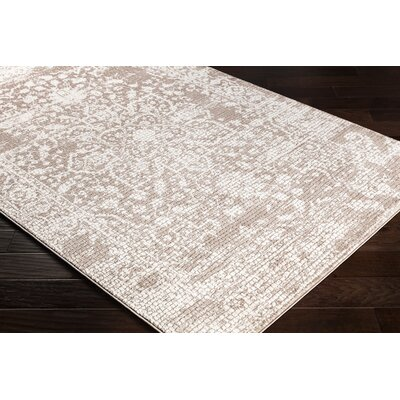 Eakes Floral Brown/Beige Area Rug Rug Size: Rectangle 2 x 3