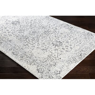 Eakes Floral Gray/Beige Area Rug Rug Size: Rectangle 67 x 96