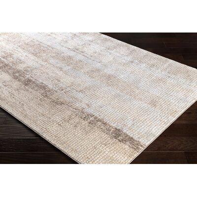 Eakes Distressed Camel/Brown Area Rug Rug Size: Rectangle 2 x 3