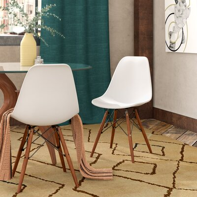 Quintus Dining Chair Finish: Walnut, Color: White