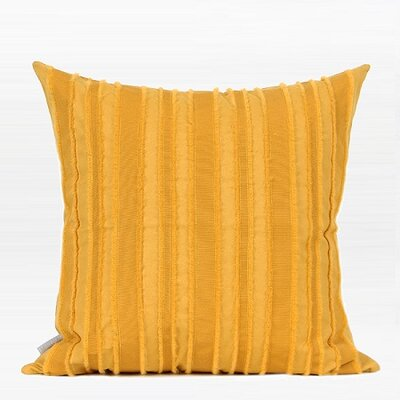 Elyria Tassel Stripe Textured Cotton Throw Pillow Fill Material: Down Feather, Product Type: Throw Pillow