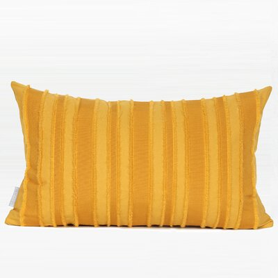 Elysee Tassel Stripe Textured Pillow Fill Material: Polyester, Product Type: Throw Pillow