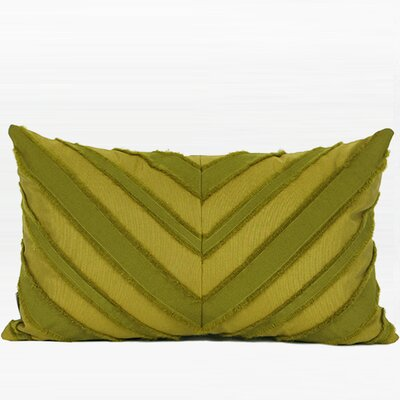 Elwyn Tassel V Stripe Textured Throw Pillow Fill Material: Polyester, Product Type: Throw Pillow