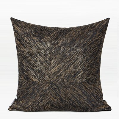 Tilstone Thin Stripe Four Area Pillow Color: Black/Gold, Fill Material: No Fill, Product Type: Pillow Cover