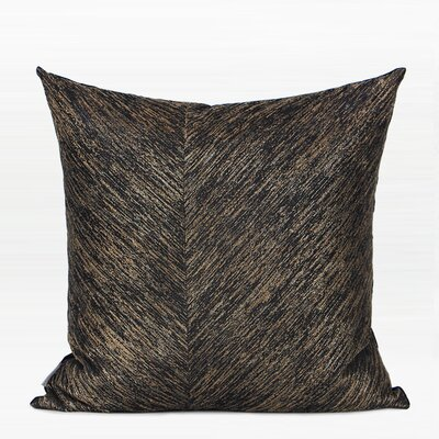 Tinsley Thin Stripe Two Area Pillow Color: Black/Gold, Fill Material: Polyester, Product Type: Throw Pillow
