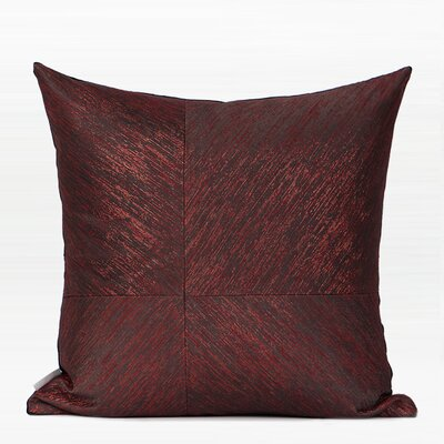Tilstone Thin Stripe Four Area Pillow Color: Red/Black, Fill Material: No Fill, Product Type: Pillow Cover