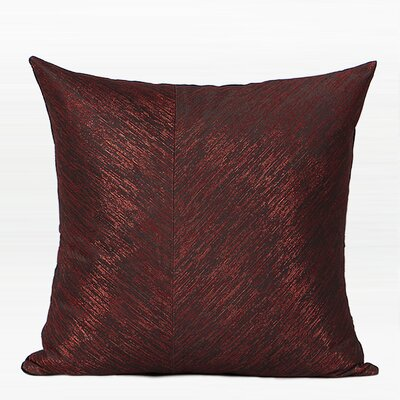 Tinsley Thin Stripe Two Area Throw Pillow Color: Red/Black, Fill Material: Down Feather, Product Type: Throw Pillow