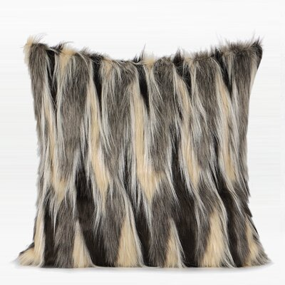 Tisdall Faux Fur Pillow Fill Material: No Fill, Product Type: Pillow Cover