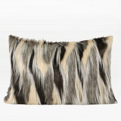 Titania Faux Fur Pillow Fill Material: Down Feather, Product Type: Throw Pillow