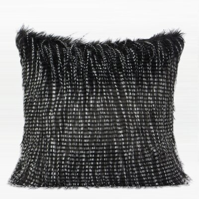 Tomas Two Tone Faux Fur Pillow Fill Material: Down Feather, Product Type: Throw Pillow