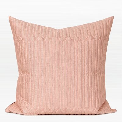 Lathan Geometry Quilt Embroidered Pillow Fill Material: Polyester, Product Type: Throw Pillow