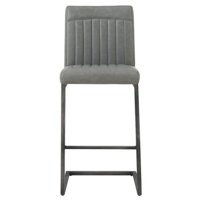 Gilkey 26 Bar Stool Upholstery: Antique Graphite Gray