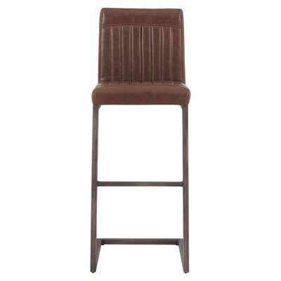 Gilkey 31.5 Bar Stool Upholstery: Antique Cigar Brown