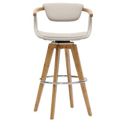 Castiglia 29.5 Swivel Bar Stool Upholstery: Stokes Linen/Natural