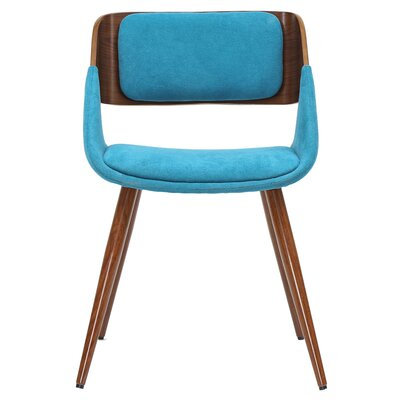 Castille Upholstered Dining Chair Upholstery: Santorini Teal/Walnut