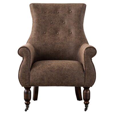 Pruneda Armchair Upholstery: Kalahari Brown