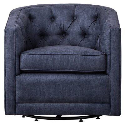 Duclos Swivel Barrel Chair Upholstery: Denim Slate