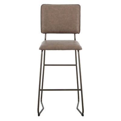 Haddix 29.5 Bar Stool Upholstery: Element Brown
