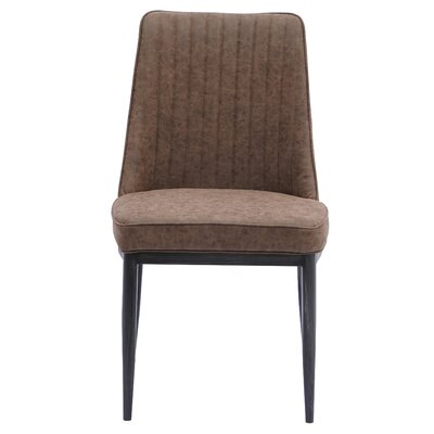 Gilley Upholstered Dining Chair Upholstery: Kalahari Brown