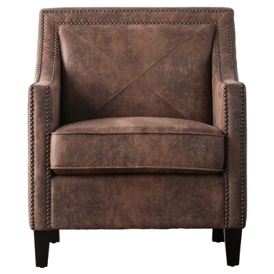 Ducote Armchair Upholstery: Crackle Brown