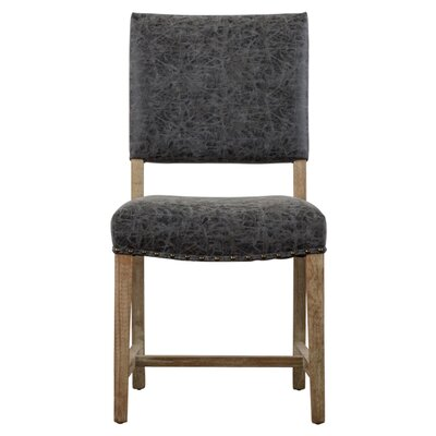 Welling Upholstered Dining Chair Upholstery: Nubuck Charcoal