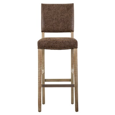 Welling 30 Bar Stool Upholstery: Nubuck Chocolate