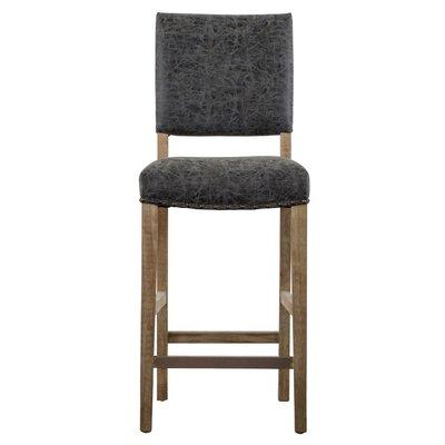 Welling 26 Bar Stool Upholstery: Nubuck Charcoal