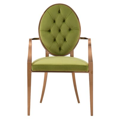 Kwan Upholstered Dining Chair Upholstery: Royal Olive