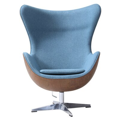 Ruddell Swivel Wingback Chair Upholstery: Flint Blue
