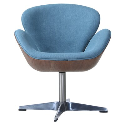 Rudder Swivel Barrel Chair Upholstery: Flint Blue