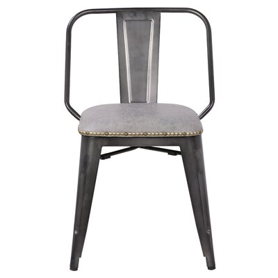 Gildea Upholstered Dining Chair Upholstery: Vintage Mist Gray