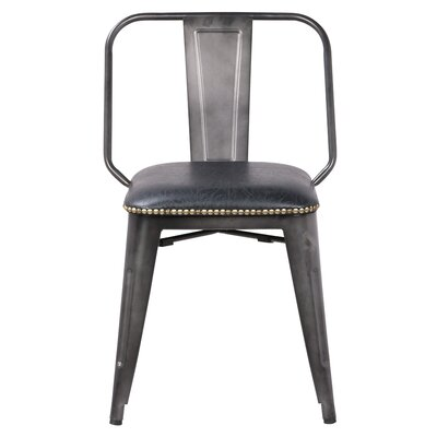 Gildea Upholstered Dining Chair Upholstery: Vintage Black