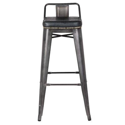 Capucine 31 Bar Stool Upholstery: Vintage Black