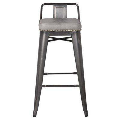 Capucine 27 Bar Stool Upholstery: Vintage Mist Gray