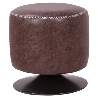 Gillan Ottoman Upholstery: Vintage Coffee Brown