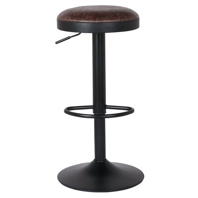 Gillham 23 Adjustable Height Swivel Bar Stool Upholstery: Vintage Coffee Brown