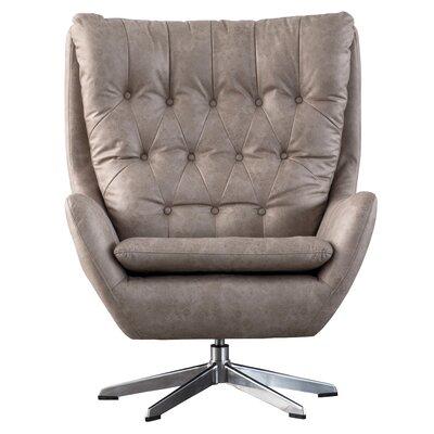 Dicken Swivel Wingback Chair Upholstery: Devore Gray