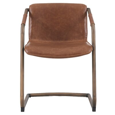 Macey Upholstered Dining Chair Upholstery: Antique Cigar Brown