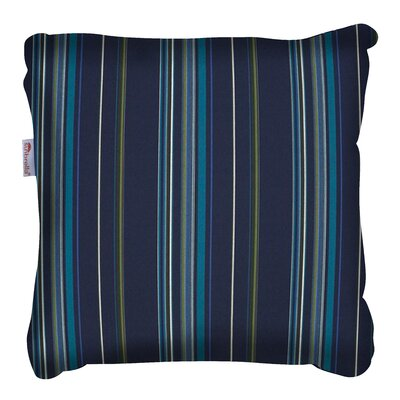 Cosey Outdoor Throw Pillow Color: Green/Blue