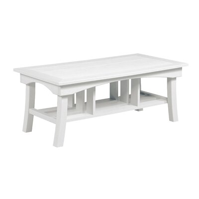 Clabaugh Coffee Table Frame Color: White