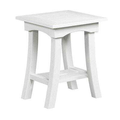 Clabaugh End Table Frame Color: White