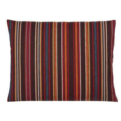 Clardy Lumbar Pillow Color: Red/Brown, Size: 11 x 13