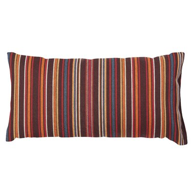 Clardy Lumbar Pillow Color: Red/Brown, Size: 6 x 16